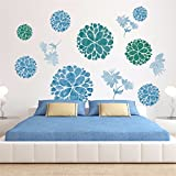ZOMUSA Flower Ball Self - Adhesive Decorative Creative Bedroom Wallpaper (As picture)