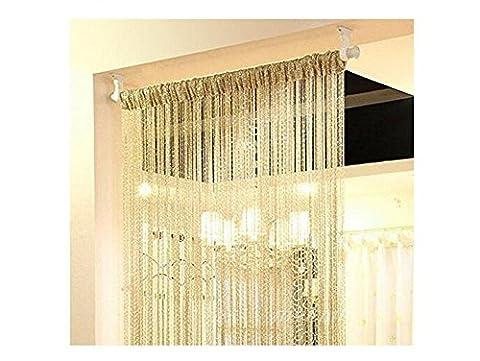 2PCS Fashion Silver Ribbon Window Panel Room Divider Strip Tassel