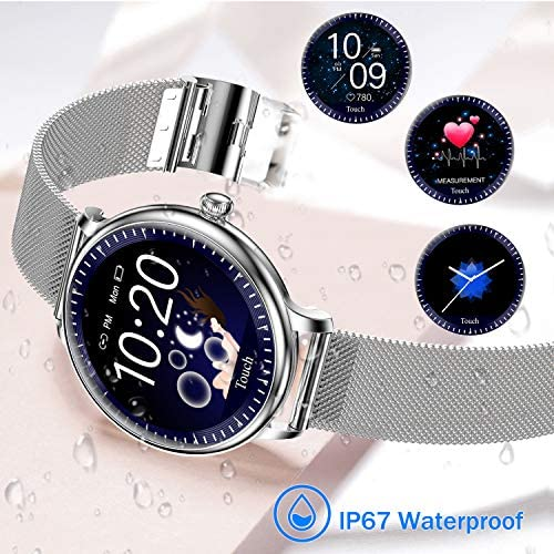 Yocuby Smart Watch for Women, Fitness Smartwatch for Android iOS Phones, IP67 Waterproof, Menstruation Reminder, Pedometer, All Day Tracker 51ZsFCmYPWL