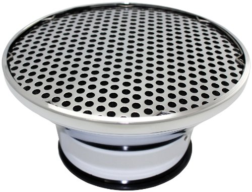 Mota Performance A10125 Chrome Steel Super Flow Velocity Stack Air Cleaner with Washable Foam Element