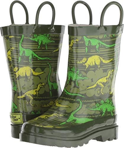 Boots Western Clothes (Western Chief Boys' Waterproof Printed Rain Boot, Dino Quest, 9/10 Medium US Toddler)