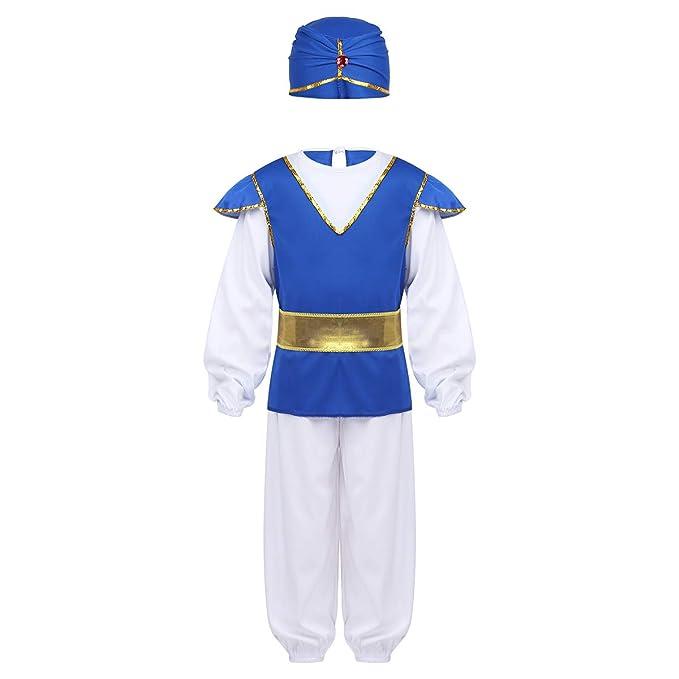 ranrann Disfraz de Príncipe Árabe India para Niños Cosplay ...