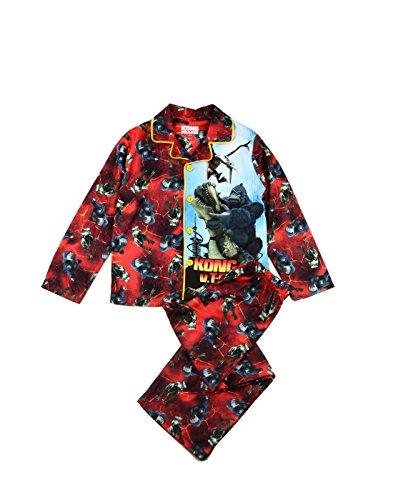 Komar Kids Kong King Of The Apes Pajama for Little Boys, Red , Small / 6-7
