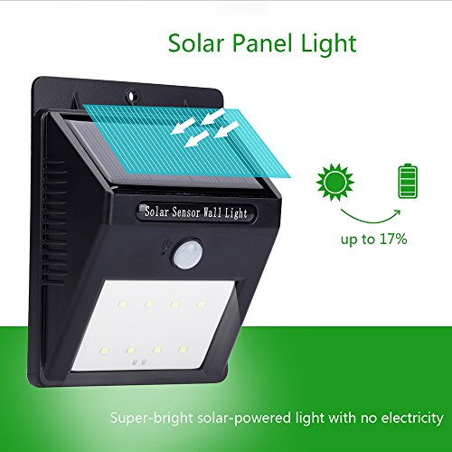 Vtoptek Solar Outdoor Lights Waterproof Solar Powered Pir