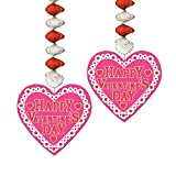 Club Pack of 24 Happy Valentines Day Danglers Hanging Party Decorations 30''
