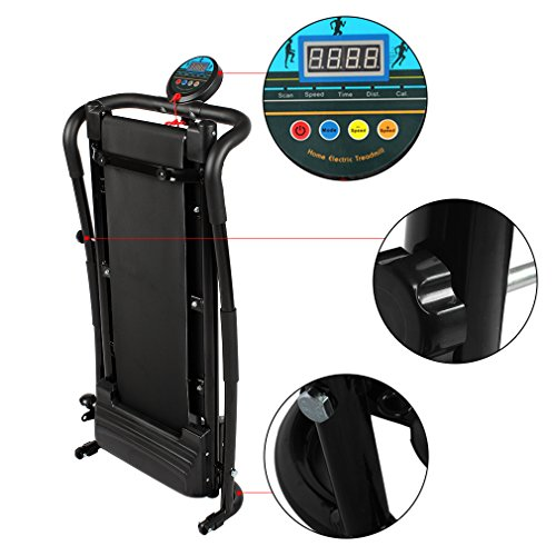 Gomyhom 350W Mini Household Multifunctional Electric Treadmill Running Machine HSM T02 Training Fitness Sports Equipments Black