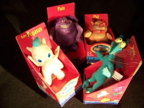 Mattel Disney's Hercules Pain Panic Phil & Baby Pegasus Mini Plush Toy Set