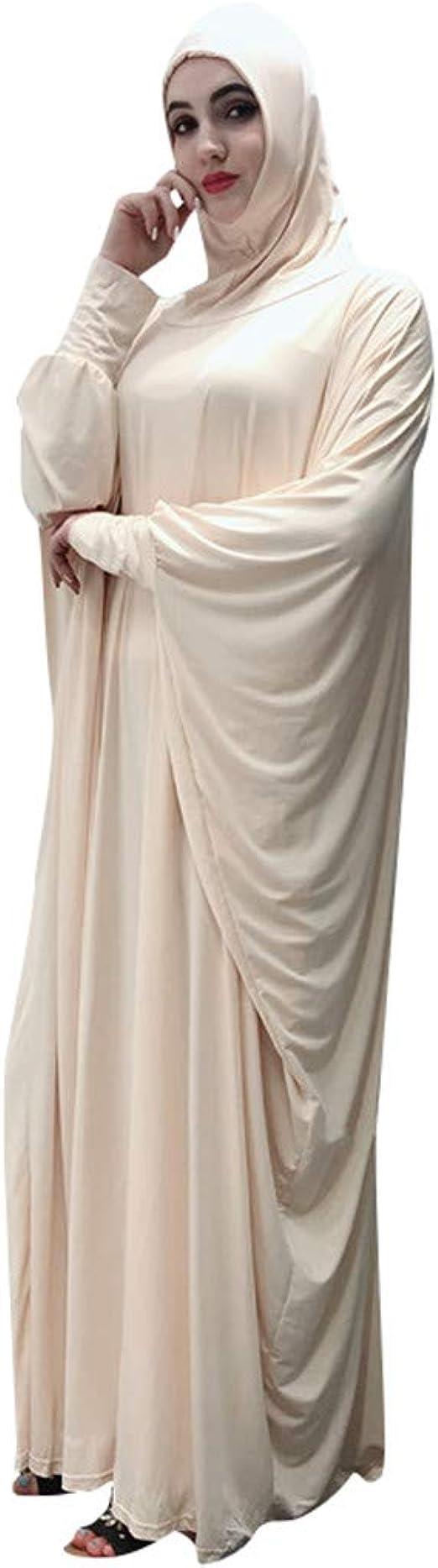 TEBAISE Muslimische Kleid Zweiteiler Robe Anzug Dress Sets Damen