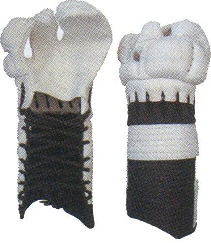 【薙刀】白鹿革甲手 サイズ:中
