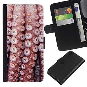 All Phone Most Case / Oferta Especial Cáscara Funda de cuero Monedero Cubierta de proteccion Caso / Wallet Case for Sony Xperia Z3 D6603 // Pattern Sea Life Nature Sea Diving