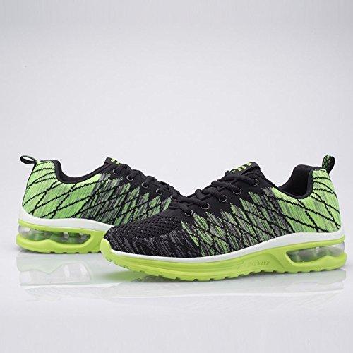 Femme Running Gym Sports Respirant Fitness Chaussure Chaussures Mesh Outdoor Casual 48 Hommes 35 Coussin Sport D'air De Vert01 w01dpwq