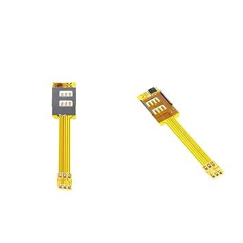 non-brand gazechimp 2 Unids Adaptador de Tarjeta SIM Dual Adecuado para iPhone 6S / 6 / 5S / 5 / 4S / 4