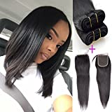 Grade 8A Unprocessed Brazilian Human Hair 3 Bundles With (4×4) Lace Closure Straight Hair (10 10 10+10″closure) Review