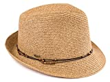 H-6108-50332 Fedora - Natural Multi w/ Beaded Ropes