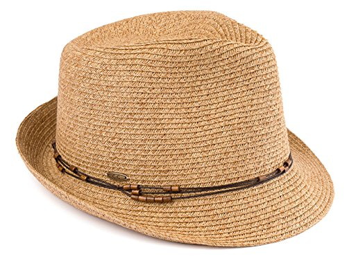 H-6108-50332 Fedora - Natural Multi w/ Beaded Ropes by Funky Junque (Image #2)