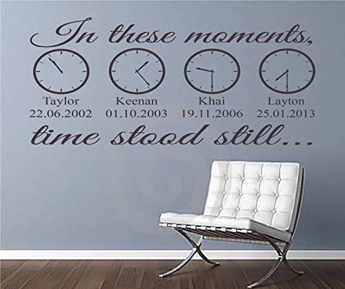 Il est des moments ensemble nous nous souvenons Forever Wall Stickers 58 cm x 27 cm UK 32