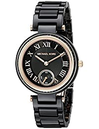 Michael Kors Women's MK6242 Mini Skylar Analog Display Analog Quartz Black Watch