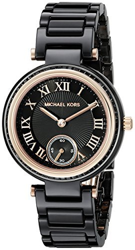 defc3807ea6d Image Unavailable. Image not available for. Colour  Michael Kors Women s  MK6242 Mini Skylar Analog Display Analog Quartz Black Watch