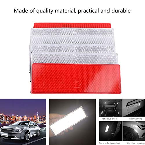 Car Vehicle Safe Warning Reflective Marking Plastic Reflector white