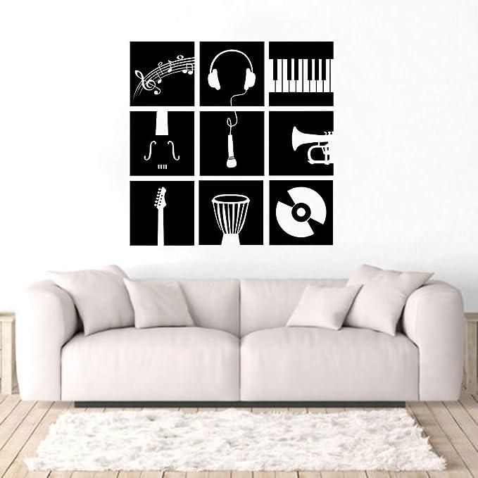 jiushixw Arte de la Pared Calcomanía Instrumentos de música ...