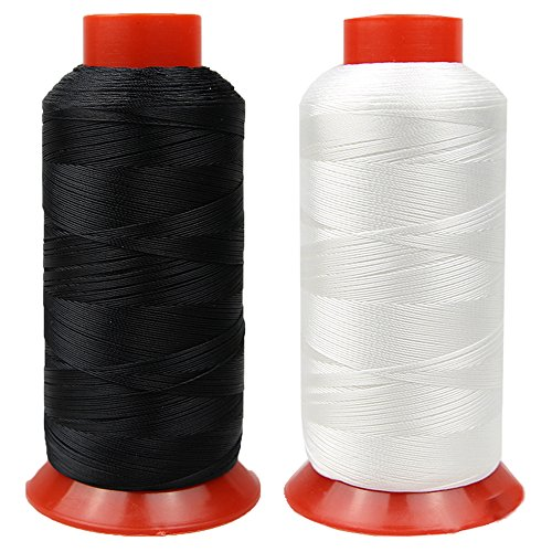 Bonded Polyester Thread High Strength Heavy Duty UV Resistant Outdoor Thread #69 T70 Size 210D/3Ply for Upholstery, Outdoor Market, Drapery, Leather, Denim and Luggage, 3000Yards Pack of 2