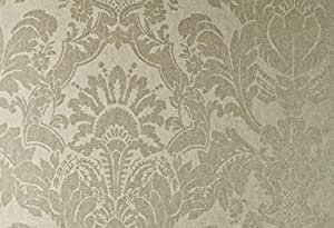 Brown & Gold Damask,Wallcovering Pure Impulse by Hookedonwallas