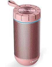 Altavoz Bluetooth Portatil, COMISO Ture Wireless Estereo 12W Subwoofer Inalambrico Portatil con Radiador Pasivo, Altavoz Bluetooth Impermeable con 20 Horas de Emision Continua, Gris Oscuro …