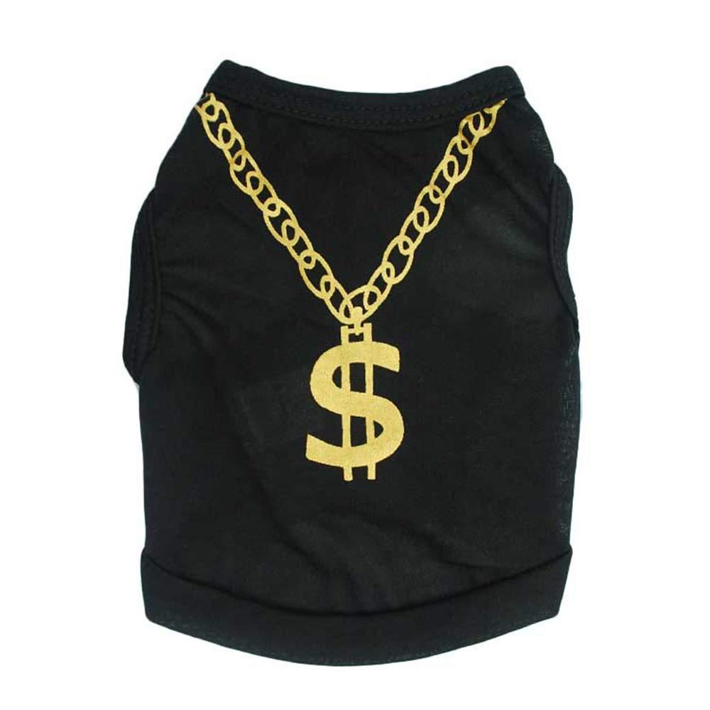Black S Black S Huayue Pet Clothing Vest Dog T-Shirt Vest (color   Black, Size   S)