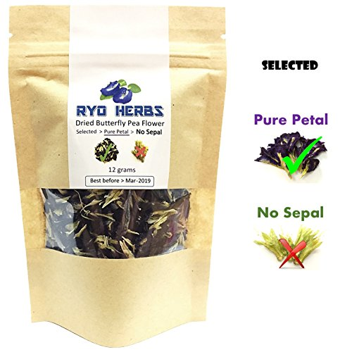 Assorted Royal Toffees (Pure Petal Blue Herbal Tea - Dried Butterfly Pea Flower 12 grams , Selected Pure Petal (No sepal) suitable for Tea and Food coloring and Hair treatments, Herb from Thailand)