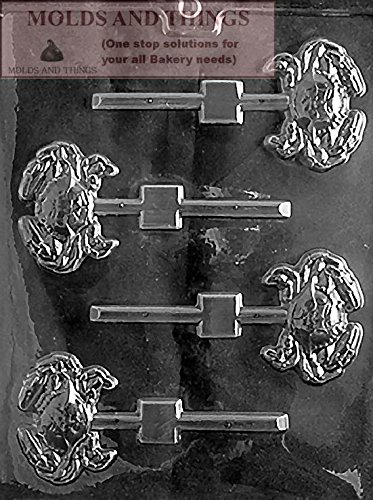 MOLDS AND THINGS Crab Lolly Chocolate Candy Mold with Copywrited Candy Making Instruction