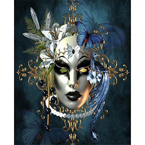 Pengy 5D Embroidery Paintings Rhinestone Pasted DIY Diamond Painting Cross Stitch Full Diamond African Woman Painting]()