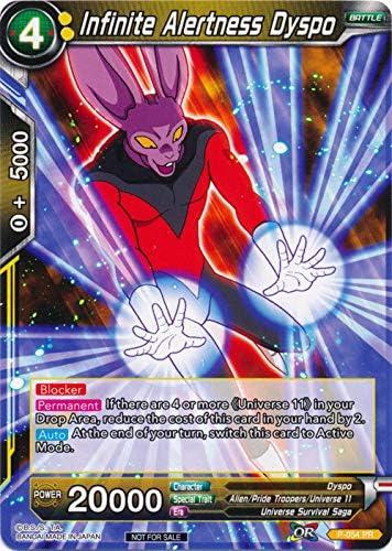 Amazon Com Dragon Ball Super Tcg Infinite Alertness Dyspo P 054 Promotion Cards Toys Games