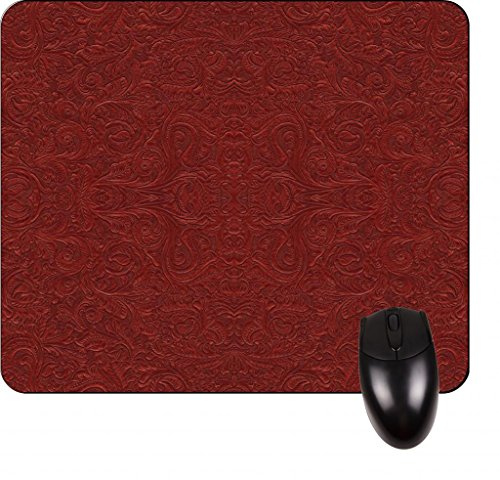 Burgundy Paisley Pattern- Square Mousepad - Stylish, durable office accessory and gift