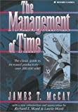 img - for The Management of Time by James T. McCay (1995-03-01) Paperback book / textbook / text book
