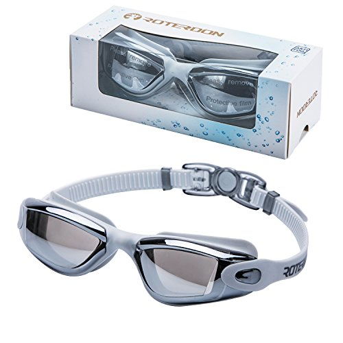 Swimming Goggles Adults, Roterdon Swim Goggles Adult Anti Fog Water Proof Kids Eyes UV Protection Mirrored Racing Water Goggle For Men Women Children Youth Junior From Swim On Line - And Store Sport Swim