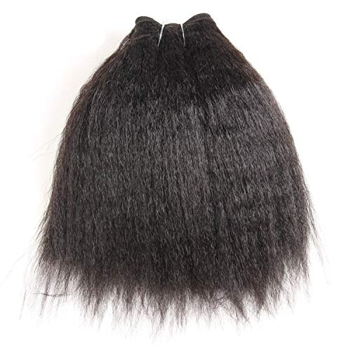 Synthetic Kinky Straight Hair Weaving 10-24inch Super Hair Extensions Pure Color Hair Bundles One Piece Deal For Women,#27,12inches ()