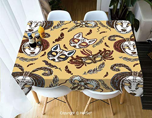 HooSo Premium Polyester Table Cover, Machine Washable, Durable
