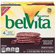 belVita Chocolate Breakfast Biscuits, 5 Count Box, 8.8 Ounce