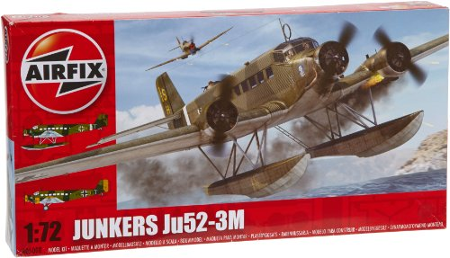 Airfix A05008 Junkers Ju52-3M Model Building Kit, 1:72 Scale -  Hornby