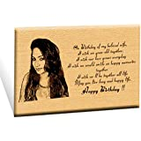 Incredible Gifts India Unique Personalized Engraved Plaque Photo Frame-(6 x 8)