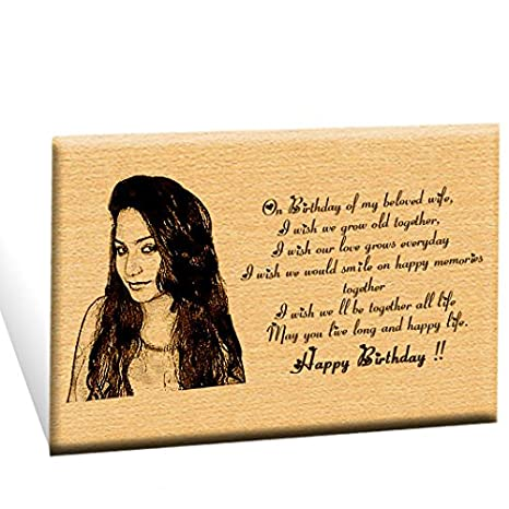 Incredible Gifts India Unique Personalized Engraved Plaque Photo