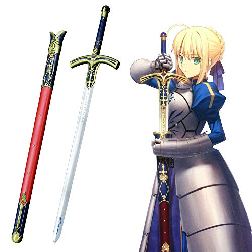 Yongli Sword Fate Stay Night Fate Grand Order Saber Lily Japanese Anime Game Cosplay Steel Sword Excalibur Sword in The Stone ()