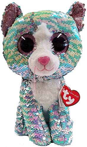 (Ty Whimsy - The Blue Sequin Cat - Medium -)