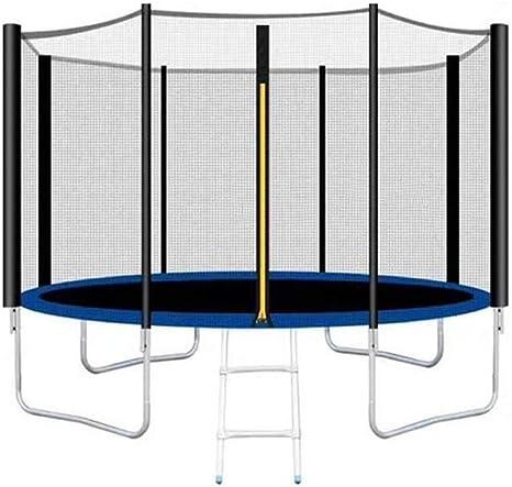Trampolines, (10 pulgadas) cama elástica for jardín, cama elástica for niños, cama elástica, incluyendo colchoneta for saltar, red de seguridad, columna de red engrosada y cubierta lateral Cama para S: Amazon.es: Deportes