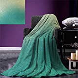 Abstract Digital Printing Blanket Technology Pattern Motherboard Image Background Vector Graphics Print Summer Quilt Comforter 80''x60'' Jade Green Pale Green