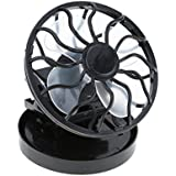MeanHoo Mini Clip-on Solar Cell Fan Travel Camping Sun Power Energy Panel Outdoor Cooling Cooler,No battery needed, Only Works in the Direct Sun