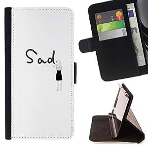 Jordan Colourful Shop - FOR Sony Xperia M2 - Don't forget them - Leather Case Absorci¨®n cubierta de la caja de alto impacto