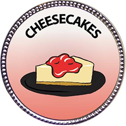 Keepsake Awards Cheesecakes Award, 1 inch Dia Silver Pin Culinary Arts Collection
