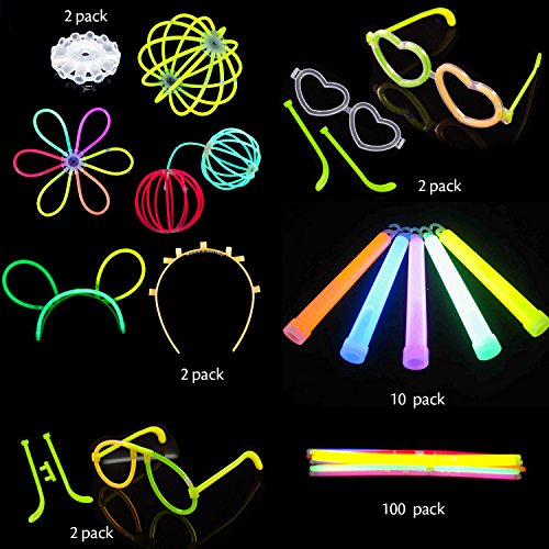 50%OFF 110 Glow Sticks Bulk for Glow Party(100 Count 8