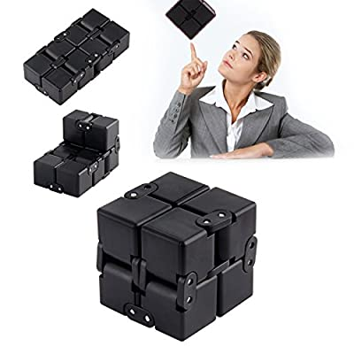Fidget Cube, Kictero Infinite Cube Fidget Toy, Infinite Magic cube, Infinity Cube Turn Spin Cube Spinner , Rubik's cube, Infinity Flip Cube Square Decompression Toy for Children and Adults